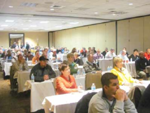It was a full house at the Ag Finance Boot Camp. The program had originally been set for early January but winter storms required it be rescheduled to the February 20 date.