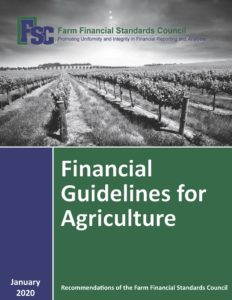 Financial Guidelines for Agriculture Cover